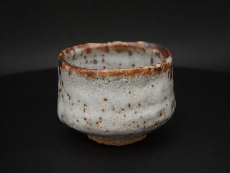 Shino Chawan  by Tadahumi Moriwaki the leader in Seto pottery area