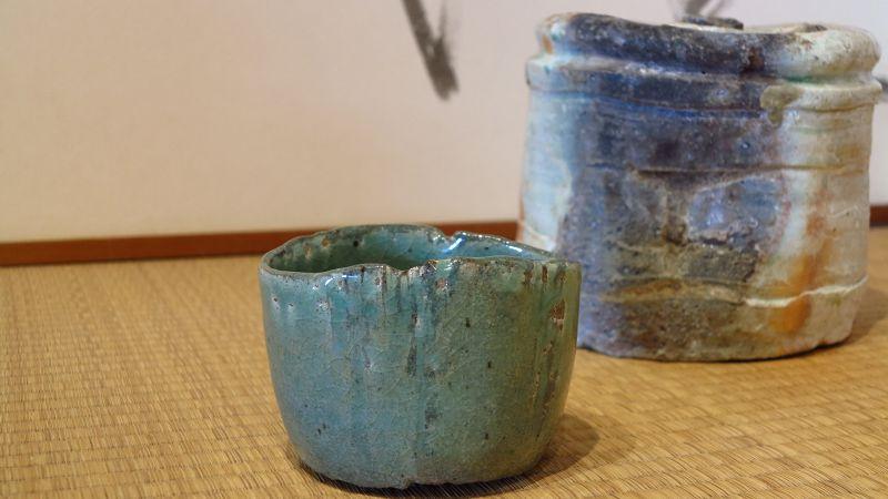 Great Master Sadamitsu Sugimoto new work Celadon Chawan Koetsu style