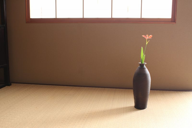 "17~18th century Nanban "" Ogre's Arm"" tall vase Tsuboya kiln"