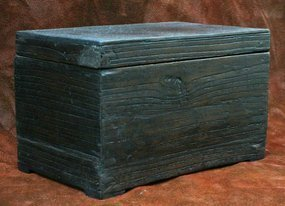 Inkstone Box with Beautiful Deep, Dark Paulownia Grain