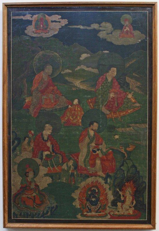 17th Century Tibetan Arahant Thangka