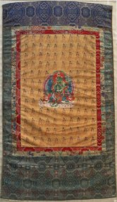 17th Century Tibetan Green Tara Thangka