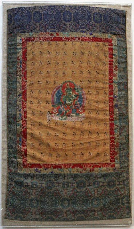 17th Century Tibetan Green Tara Thangka