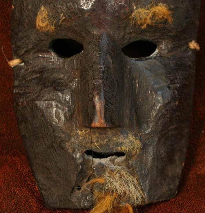 Nepalese Bearded Mask from the Humla Region