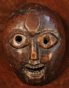 Nepalese Terai Region Mask with a Third Eye