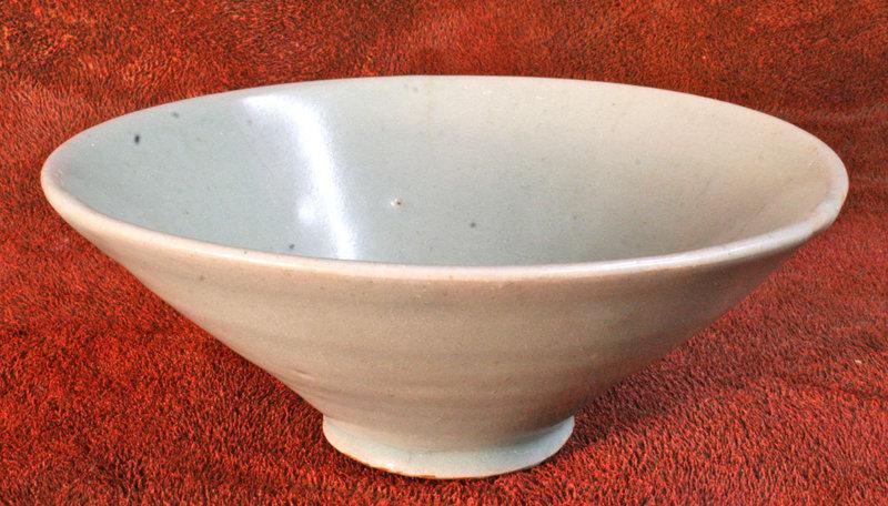 12th Century Conical Pure Celadon Bowl