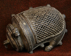 18th Century Bronze Indian Mango Purse