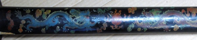 Large Korean Antique Lacquered Sword with Dragons
