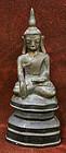 Burmese Bronze Sakyamuni Buddha, the Historical Buddha