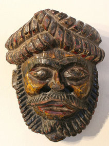 Fine Nepalese Mask of a Rare Type with Pigments