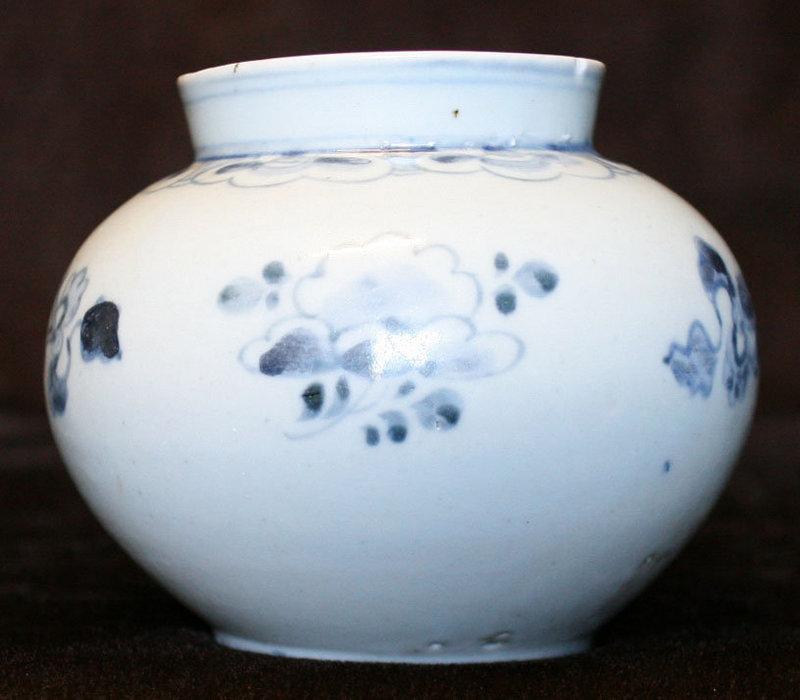 Blue and White Porcelain Jar, Korean Royal Bunwon Kiln