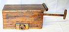 Rare Antique Korean Wood Box Bellows w/ Beautiful Grain