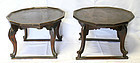 Rare Pair of 19th Century Soban, Personal Dining Tables