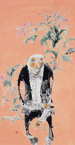 Woo Jong Taek, Ink and Watercolor on Paper