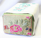 Korean Pillow Embroidered with Peonies and Butterflies