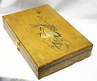 Antique Box with Pairs of Cranes, Sparrows and Plum Blossoms