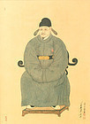 Early 20th Cent. Portrait of Jeong Mong Ju by Hyeon Gok