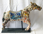 Charming Antique Nepalese Painted Carousel Horse