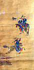Very Fine Joseon Dynasty Korean Hunting Painting with Falcon