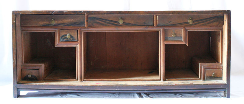 Very Rare and Beautiful Scholar's Stationery Chest with Persimmon Wood