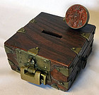 Beautiful Old Seal Box with Name Stamp and Lock