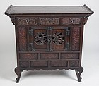 Rare and Fine Turn-of-the-Century Chest with Carved Floral Openwork