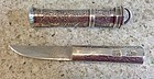 Fine Silver Dagger, Eunjangdo, w/beautifully engraved ancient symbols