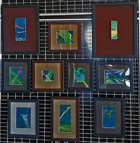Dragon Skies set of 10 paintings by Pioneering Korean Artist Don Ahn
