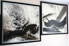 Two Ink Paintings: Black Dragon, Zen Wave by Don Ahn aka Ahn Dong Kuk