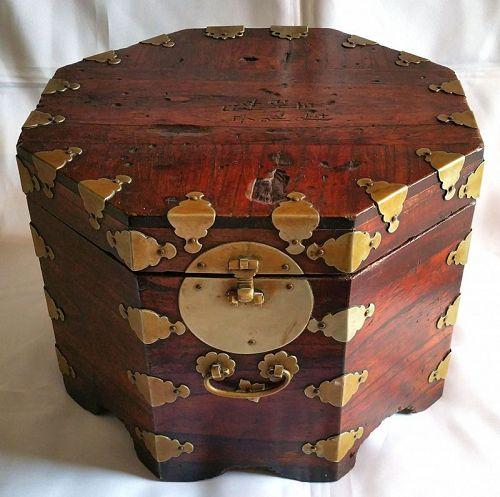 Rare Antique Korean Hat Box