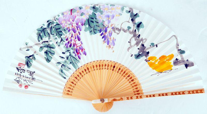 Lilac Fan Painting by Jeon Yeong Suk aka Yeo Cheong