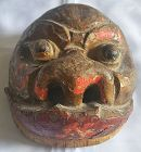 Fine 19th Century Lacquered Chinese Theater Mask with a Splendid Face