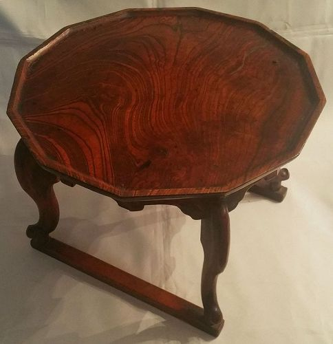 19th Century Tiger Leg (Cabriole Leg) Dining Table of Zelkova Wood