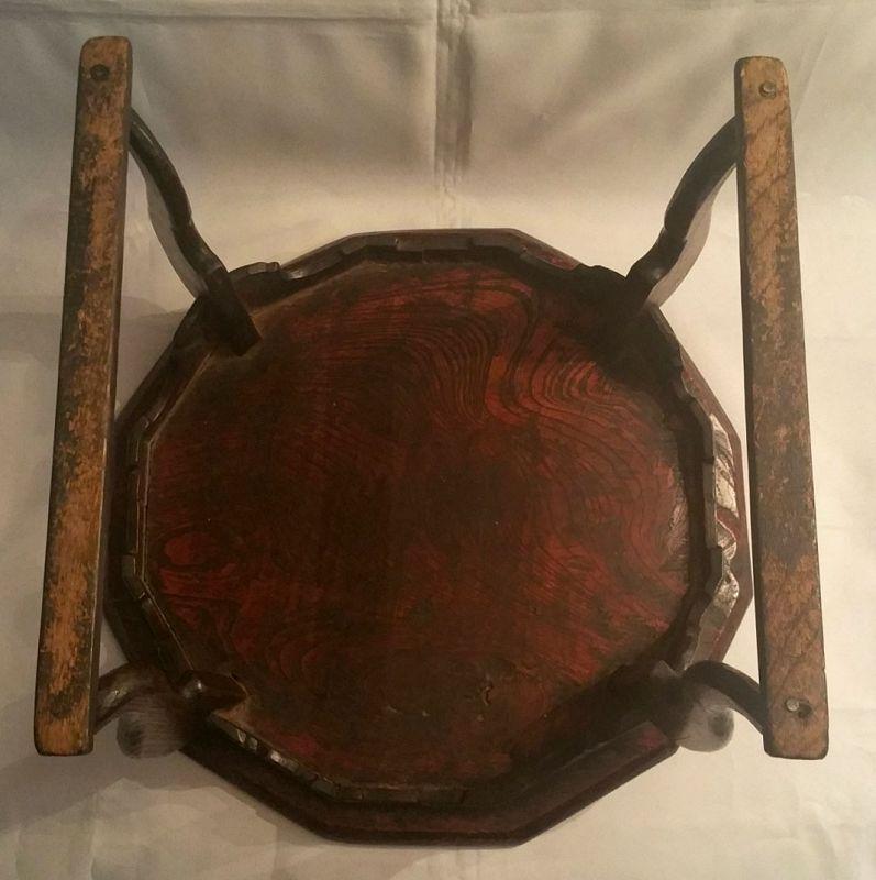 19th Cty. Korean Twelve-Sided Tiger Leg Dining Table (Soban), Zelkova