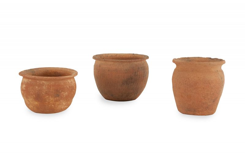 Extremely Rare Set of Three Korean Prehistoric Pots