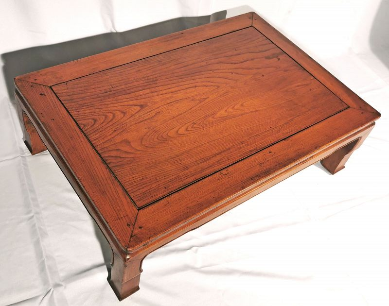 Gorgeous Antique Chinese Table with Beautiful Elm Grain