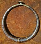 Rare and Sublime Coconut Shell Torque Necklace from Nias Island