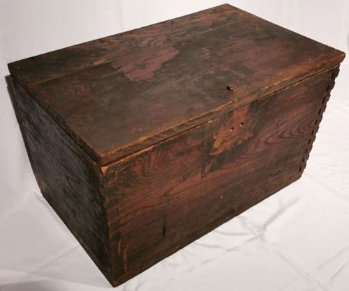 Very Rare 18th Century Coin Chest, Zelkova Wood on all six sides