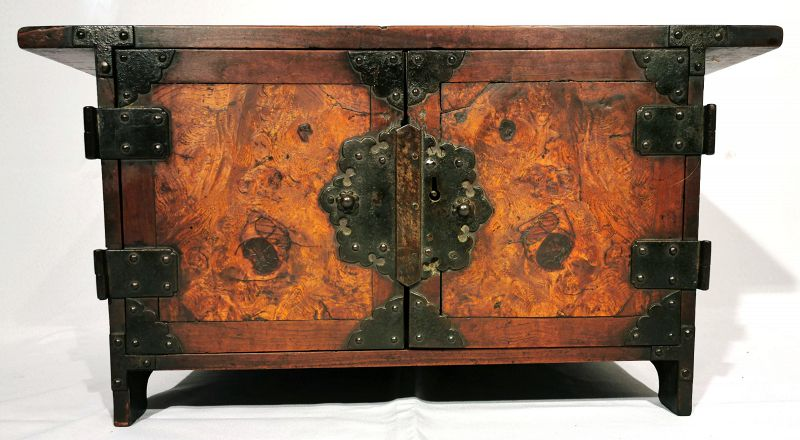 Rare Small Antique Korean Safe with Original Owner Inscription