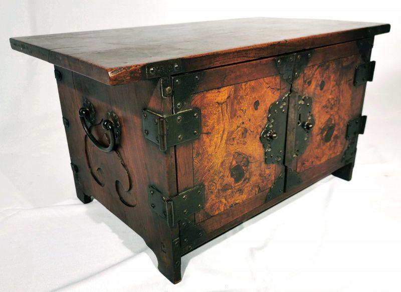 Rare Small Antique Korean Safe with Original Owner Inscription