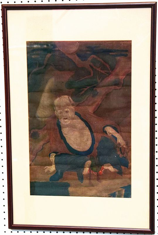 Scarce 19th Century Painting of Dokseong, Korea's Ancient Hermit Saint