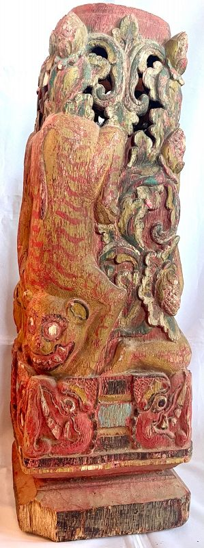 Antique Chinese Buddhist Architectural Art, Fantastic Detail and Color