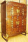 19th Century Two Level Dragon Burlwood Butterfly Chest