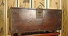 Korean Small Coin Chest of Fine Korean Pine and Iron
