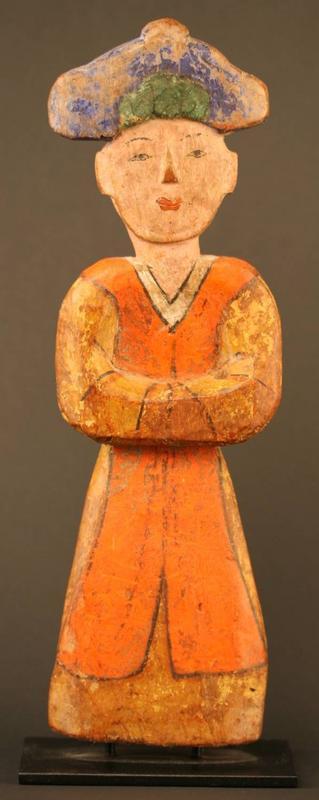 Rare Korean Funerary Figure, Original Pigment Intact