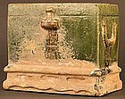 Chinese Han Dynasty Terra Cotta Green Glazed Chest
