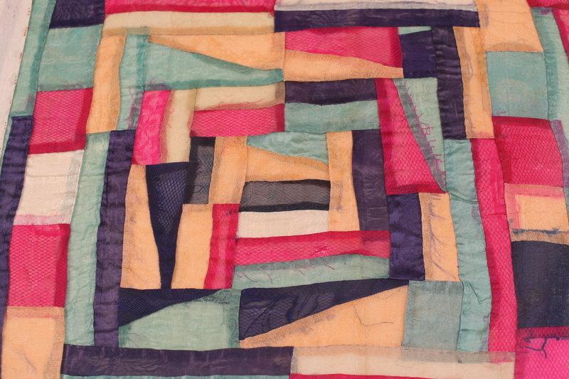 Lovely Framed Bojagi Korean Wrapping Cloth