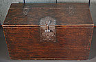 19th Century Coin Chest with Beautiful Ironwork