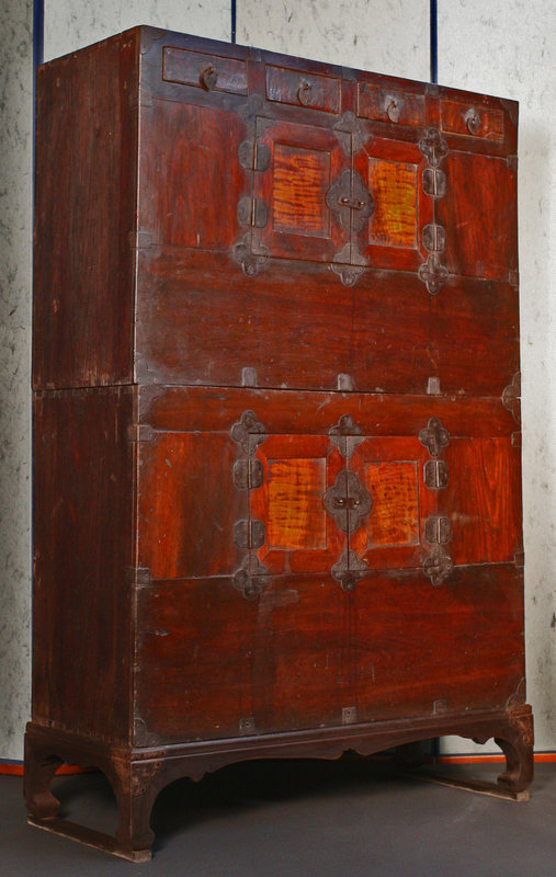 Rare, Old Two Unit Stacked Chest of Maple and Pine