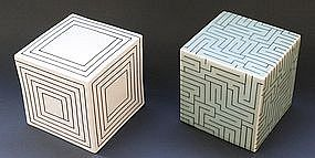 Joo Ji Wan Celadon and Porcelain Duo